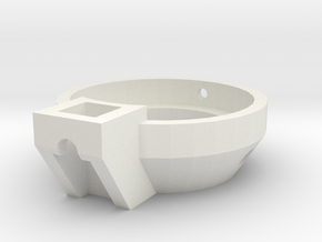 Blaster Shroud Adapt Front in White Natural Versatile Plastic