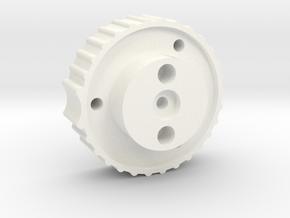 Antenna Elev. knob for 6mm shaft, bottom part in White Processed Versatile Plastic