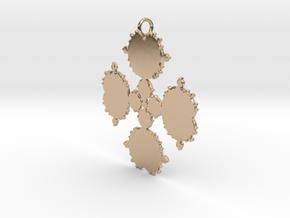 Mandelbrot Flake Pendant in 14k Rose Gold Plated Brass