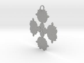 Mandelbrot Flake Pendant in Aluminum