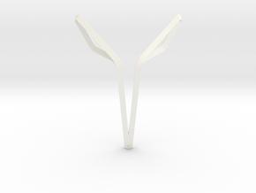 Space Elephant Pendant. Elegant Elephant in White Processed Versatile Plastic