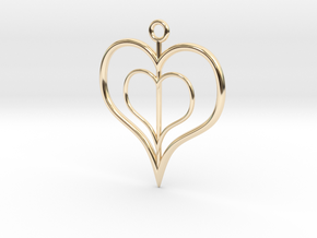 NestedheartV2 in 14K Yellow Gold