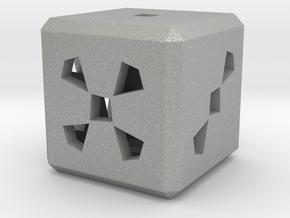 Dice No.3 S (balanced) (2cm/0.79in) in Aluminum