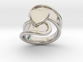 Valentinodayring 14 - Italian Size 14 in Platinum