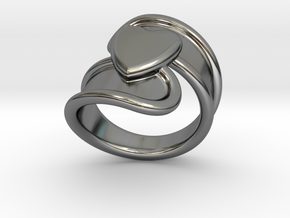 Valentinodayring  16 - Italian Size 16 in Fine Detail Polished Silver