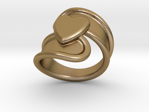 Valentinodayring  17 - Italian Size 17 in Polished Gold Steel