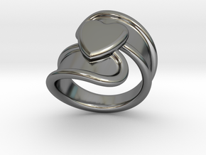 Valentinodayring  19 - Italian Size 19 in Fine Detail Polished Silver