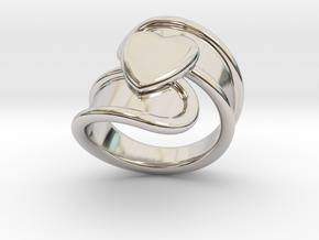Valentinodayring  19 - Italian Size 19 in Platinum