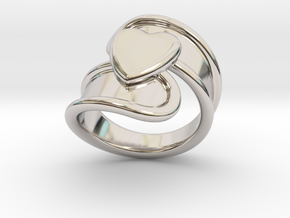 Valentinodayring  19 - Italian Size 19 in Rhodium Plated Brass