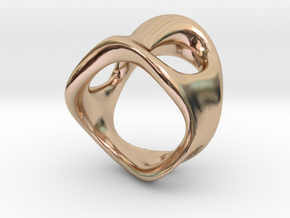 s3r032s7 GenusReticulum in 14k Rose Gold Plated Brass