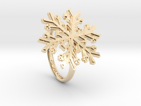 Snowflake Ring 1 d=17mm h21d17 in 14K Yellow Gold