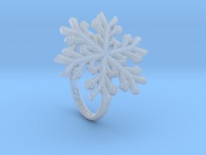 Snowflake Ring 1 d=17mm h21d17 in Smooth Fine Detail Plastic