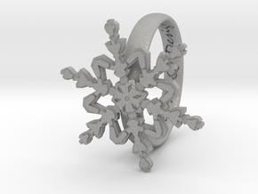 Snowflake Ring 2 d=18mm h35d18 in Aluminum