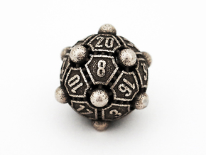 Nucleus D20 in Polished Bronzed Silver Steel