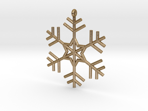 Snowflake in Polished Gold Steel