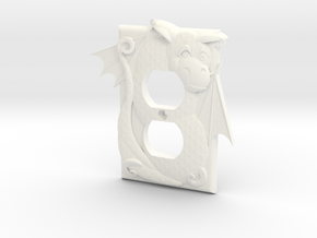Dragon Outlet Cover in White Processed Versatile Plastic