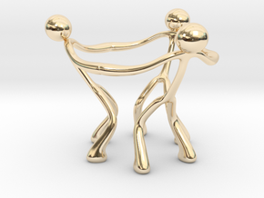 Stickman Egg Cup in 14K Yellow Gold