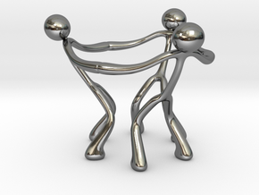 Stickman Egg Cup in Fine Detail Polished Silver