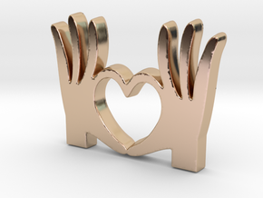 I Love You Pendant - Amour Collection in 14k Rose Gold Plated Brass