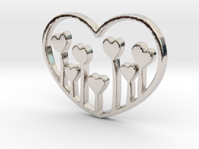 Heart's Garden Pendant - Amour Collection in Platinum