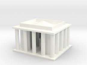 Lincoln Memorial in White Processed Versatile Plastic