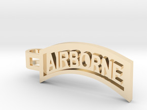 Airborne Tab Tie Bar in 14k Gold Plated Brass
