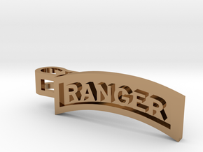 Ranger Tab Tie Bar in Polished Brass