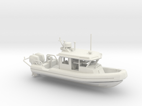 Defender 250 Rigid Inflatable Boat (1:148) in White Natural Versatile Plastic: 1:64 - S