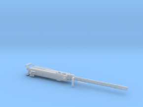 1:8 Scale Machine Gun 50 Cal. 181.44mm in Smooth Fine Detail Plastic