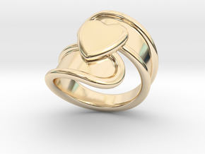 Valentinodayring  20 - Italian Size 20 in 14K Yellow Gold