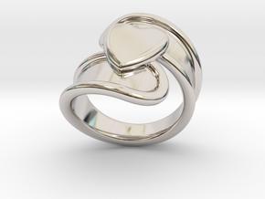 Valentinodayring  22 - Italian Size 22 in Platinum