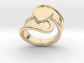 Valentinodayring  22 - Italian Size 22 in 14k Gold Plated Brass