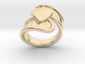 Valentinodayring  24 - Italian Size 24 in 14k Gold Plated Brass