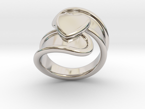 Valentinodayring  24 - Italian Size 24 in Rhodium Plated Brass