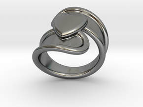 Valentinodayring  25 - Italian Size 25 in Fine Detail Polished Silver