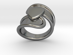 Valentinodayring  26 - Italian Size 26 in Fine Detail Polished Silver