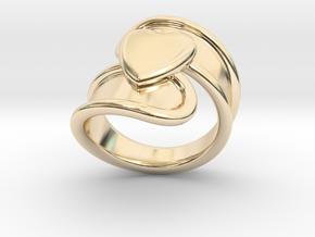 Valentinodayring  27 - Italian Size 27 in 14k Gold Plated Brass