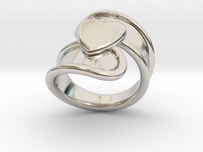 Valentinodayring  27 - Italian Size 27 in Rhodium Plated Brass