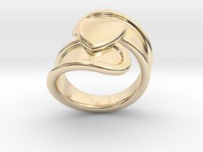 Valentinodayring  29 - Italian Size 29 in 14k Gold Plated Brass