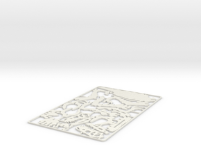 Raptor 3D Puzzle in White Natural Versatile Plastic