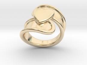 Valentinodayring  33 - Italian Size 33 in 14k Gold Plated Brass