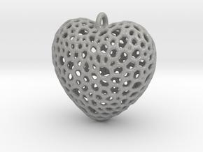Heart Pendant #1 in Aluminum