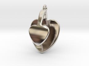 San Valentino Heart Earring in Platinum