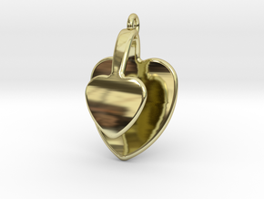 San Valentino Heart Earring in 18k Gold Plated Brass