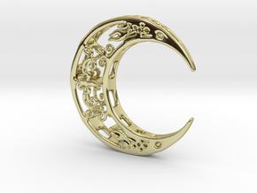 Moon_Pendant in 18k Gold Plated Brass