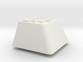Topre row E - HP symbol in White Natural Versatile Plastic