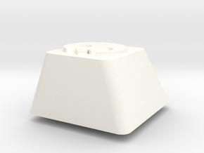 Topre row E - Rebel Alliance symbol in White Processed Versatile Plastic