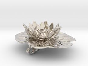 Lilypad Pendant in Rhodium Plated Brass