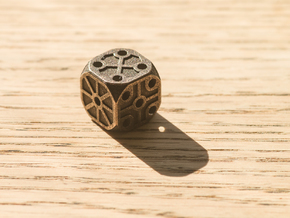 Rustic  Die - Small in Polished Bronze Steel