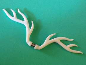 bjd elk deer horns  in White Strong & Flexible Polished